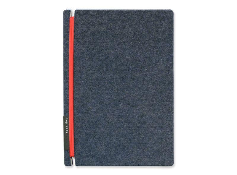 リプラグ フィーリングで選ぶ プロフェッショナル1位 名刺ファイル Log book : Felt【navy】/レッド