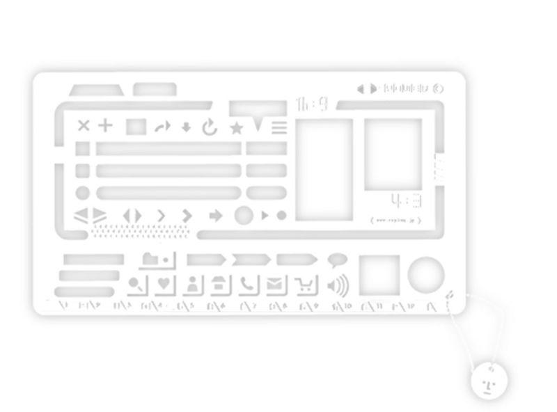 Web型定規 / ホワイト(半透明)