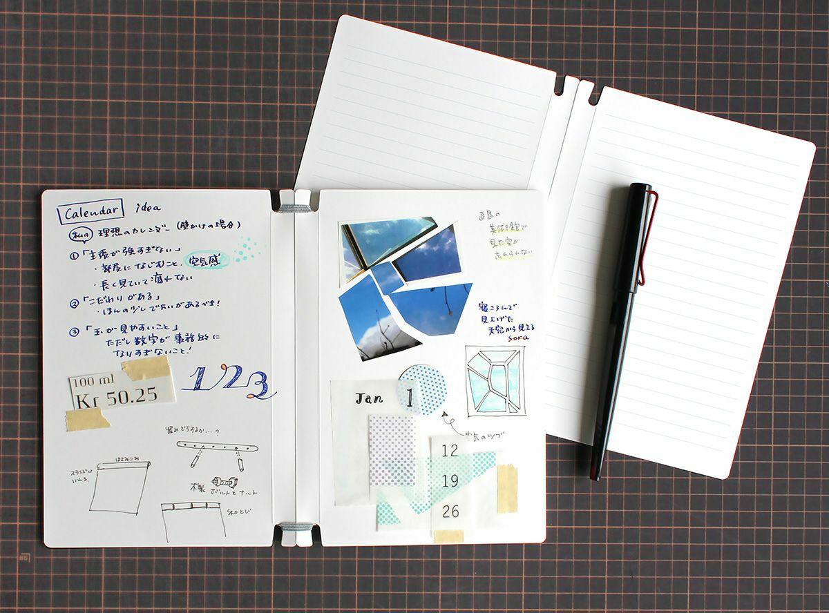 スクラップブック Sara book 破れにくく、折れにくい。とてもタフなノートです。