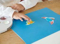 フィンガーペイントのお絵かき帳とゆび絵の具セット アトリエ ミオ